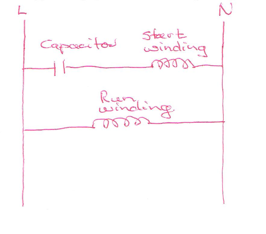 single phase 1 0012 single phase motor capacitor start sparkyhelp wiring diagram single phase motor with capacitor at webbmarketing.co